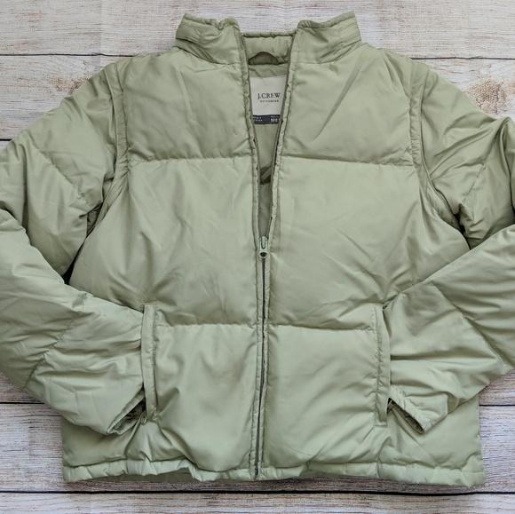 a51e00a7911 J. Crew Jackets & Blazers - J.Crew Women's Medium Pea Green Puffer Jacket
